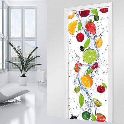 Autocolante para porta - cascata de frutas