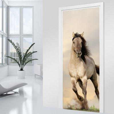 Autocolante para porta - cavalos