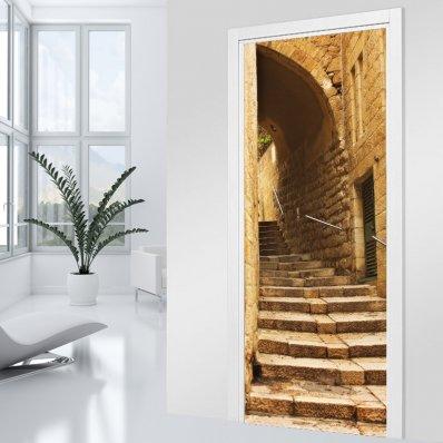Autocolante para porta escadaria