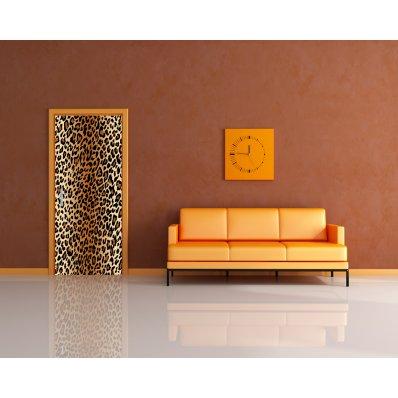 Autocolante para porta leopardo