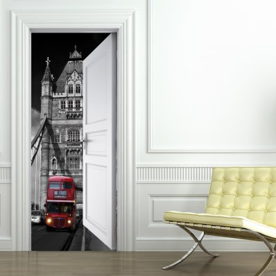 Autocolante para porta London