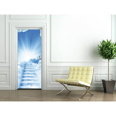 Autocolante para porta nuvens
