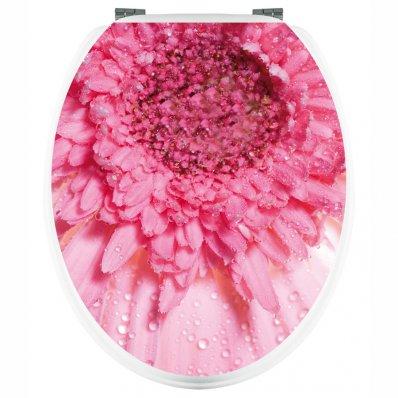Autocolante tampo de sanita flores