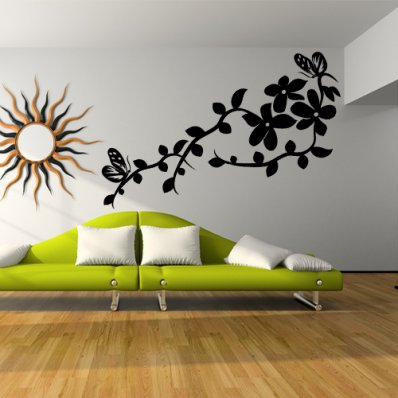Butterfly Flower Wall Stickers
