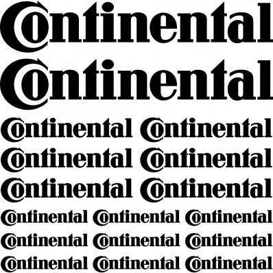 continental Decal Stickers kit