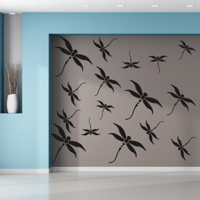 Dragonfly Set Wall Stickers