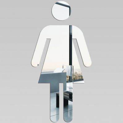 Espejos decorativo Acrílico Pléxiglas  Muestra del WC  de la mujer