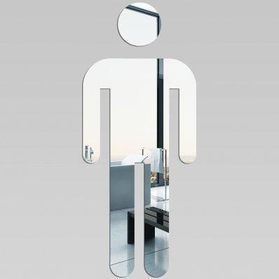 Espejos decorativo Acrílico Pléxiglas  Muestra del WC del hombre
