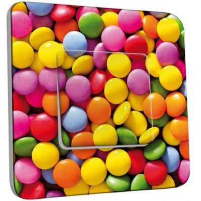 interrupteur d cor poussoir bonbons 10 pas cher. Black Bedroom Furniture Sets. Home Design Ideas