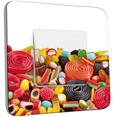 interrupteur d cor poussoir bonbons 11 pas cher. Black Bedroom Furniture Sets. Home Design Ideas