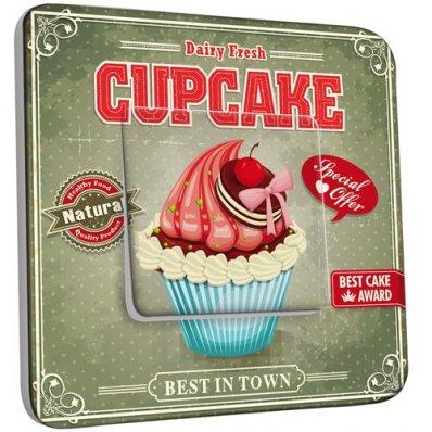 Interrupteur Décoré Poussoir Cupcake 1