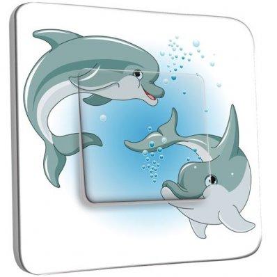 interrupteur d cor poussoir dauphins enfant pas cher. Black Bedroom Furniture Sets. Home Design Ideas