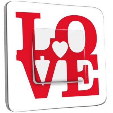 Interrupteur Décoré Poussoir Love