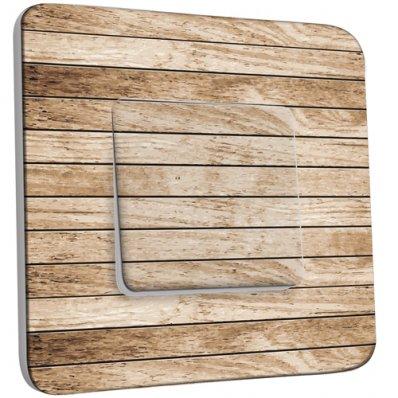 interrupteur d cor simple va et vient bois pas cher. Black Bedroom Furniture Sets. Home Design Ideas
