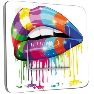 Interrupteur Décoré Simple Bouche design Multicolorée