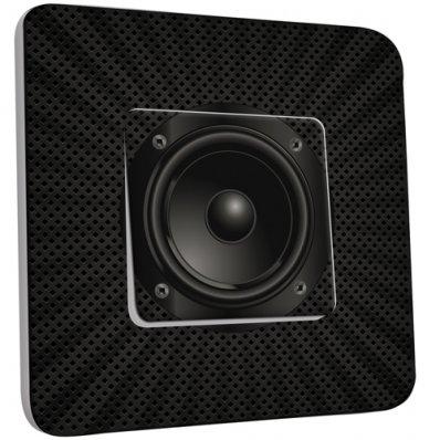 Interrupteur Décoré Simple Caisson de basse Black