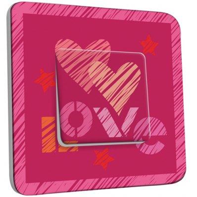 Interrupteur Décoré Simple Coeur Love