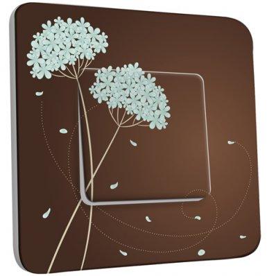 Interrupteur Décoré Simple Fleurs Abstraits 18