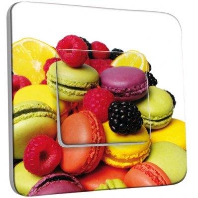 Interrupteur Décoré Simple Fruits et Macarons
