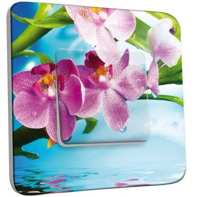 Interrupteur Décoré Simple Orchidées