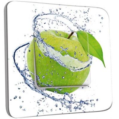 Interrupteur Décoré Simple Pomme Verte