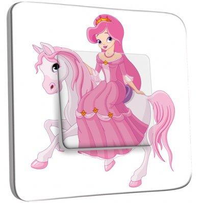 Interrupteur Décoré Simple Princesse cheval