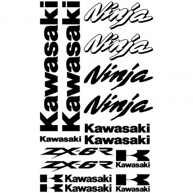 Kawasaki ninja ZX-6r Decal Stickers kit