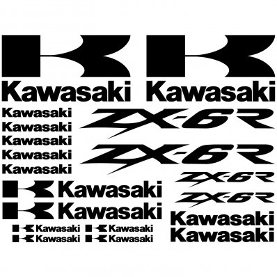 Kawasaki ZX-6r Decal Stickers kit