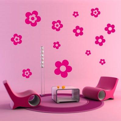kit 13 stickere Floare
