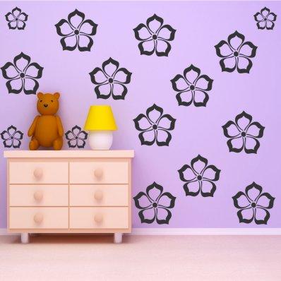 Kit Adesivo Murale 17   fiori