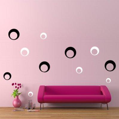 Kit Adesivo Murale 20   cerchi design