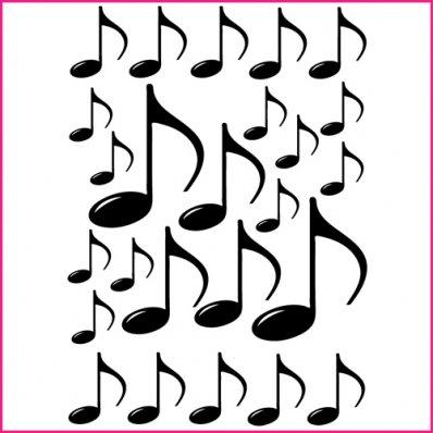 Kit Adesivo Murale 25   note musicali