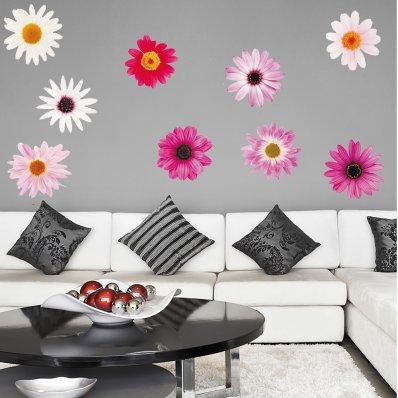 Kit Adesivo Murale bambini 9 fiori