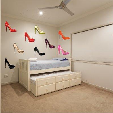 Kit Adesivo Murale   scarpe