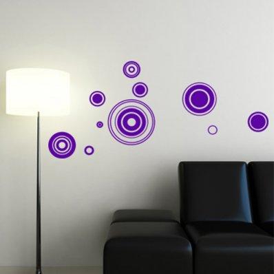 Kit Autocolante decorativo  10 círculos