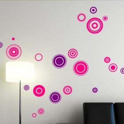 Kit Autocolante decorativo  13 círculos