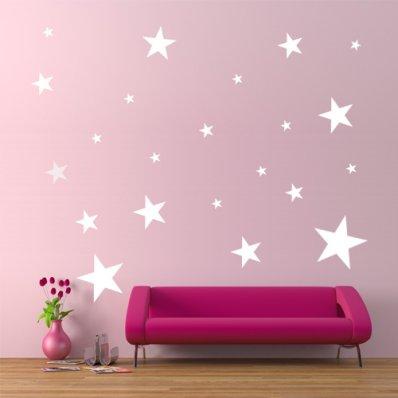 Kit Autocolante decorativo  22 estrelas