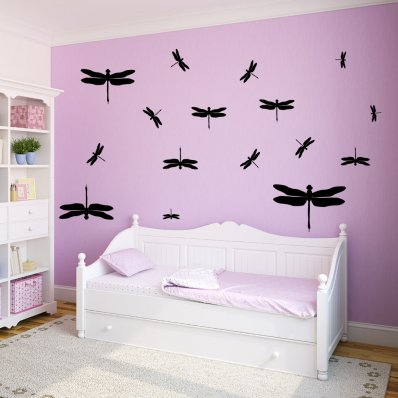 Kit Autocolante decorativo  36 libélulas