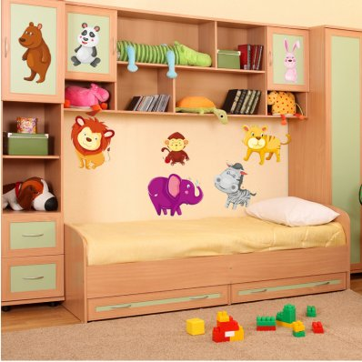 Kit Autocolante decorativo infantil 11 Animais