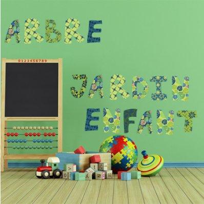 Kit Autocolante decorativo infantil alfabeto
