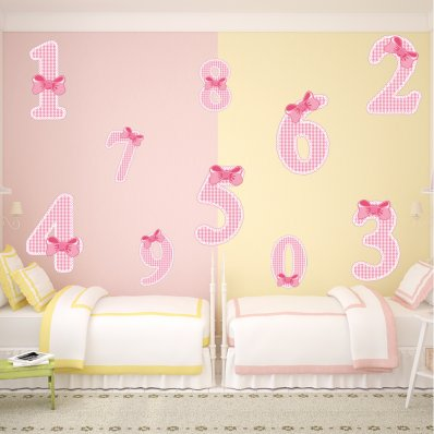 Kit Autocolante decorativo infantil numero