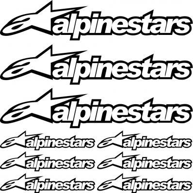 kit pegatinas alpinestars