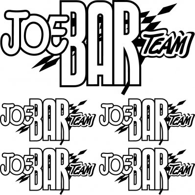 kit pegatinas joe bar team