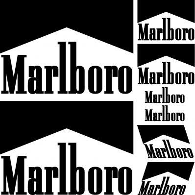 kit pegatinas marlboro