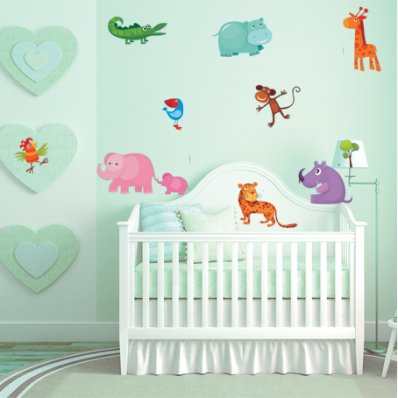 Autocollant Stickers enfant kit 11 animaux