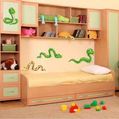Autocollant Stickers enfant kit 4 serpents