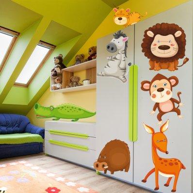 Autocollant Stickers enfant kit 7 animaux