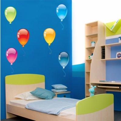 Autocollant Stickers enfant kit 8 ballons
