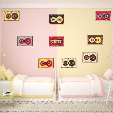 Autocollant Stickers ado kit 9 cassettes