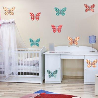 Autocollant Kit stickers 9 papillons
